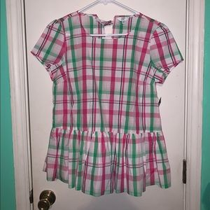 Crown & Ivy Plaid Top